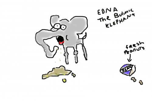 Elephant with an eating disorder